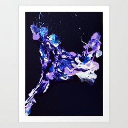 Purple Giraffe Art Print
