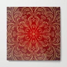 Golden Pattern Design Metal Print