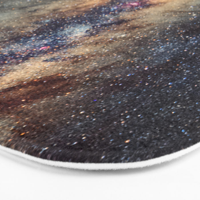 The star Antares, Scorpius and Sagitariuss over the hight mountains. The milky way. Bath Mat