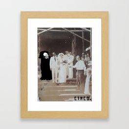 The End (black heart) Framed Art Print