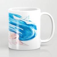 aquarius Mugs featuring Aquarius by Aloke Design