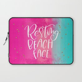 Resting Beach Face Laptop Sleeve