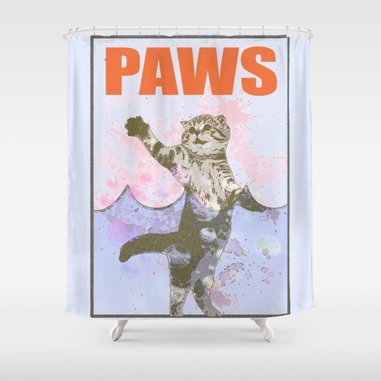 Paws / Jaws Shower Curtain
