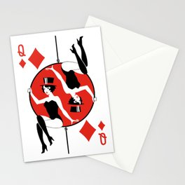 Sawdust Deck: The Queen of Diamonds Stationery Cards