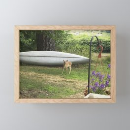 Curious Spotted Fawn Framed Mini Art Print