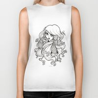 art nouveau Biker Tanks featuring Art Nouveau by Sweeney Boo