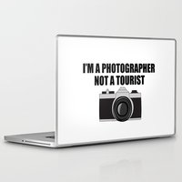 photographer Laptop & iPad Skins featuring Photographer Tourist Funny by bitobots