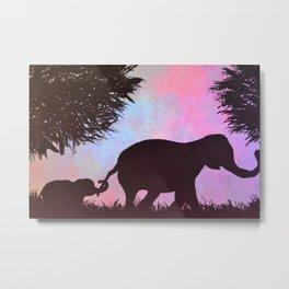 Elephant love <3 Metal Print