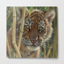 Tiger Cub - Discovery Metal Print