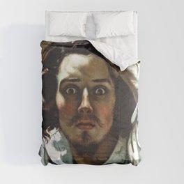 "Gustave Courbet ""The Desperate Man (Self-Portrait)"" Comforters"