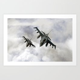 F16 Fighting Falcons Art Print