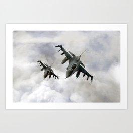 F16 Fighting Falcons Art Print