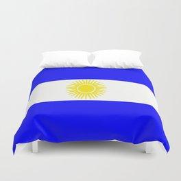 Flag of Argentina Duvet Cover