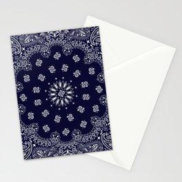 Paisley - Bandana - Navy Blue - Southwestern - Cowboy Stationery Cards