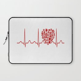 Chemistry Teacher Heartbeat Laptop Sleeve