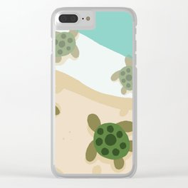 Baby Turtles Clear iPhone Case