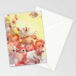 Red Blots in the Sun Stationery Cards