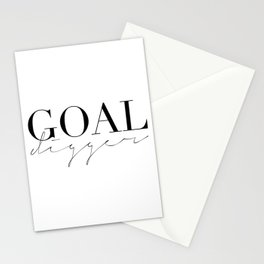GOAL DIGGER SIGN,Gift For Boss,Like A Boss,Success Quote,Business Women Gift,Printable Art,Modern Ar Stationery Cards