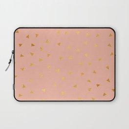Millennial Pink Gold Pastel Pattern Laptop Sleeve