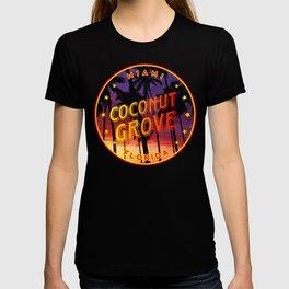 Coconut Grove, Florida Sunset T-shirt