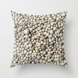 Seashells in the Regional Natural Park of Camargue Throw Pillow