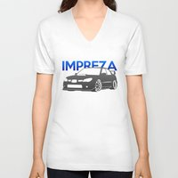 subaru V-neck T-shirts featuring Subaru Impreza 2006 by Vehicle