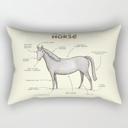 Anatomy of a Horse Rectangular Pillow