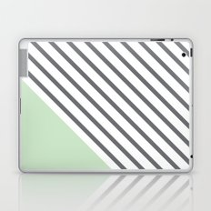 Diagonal Block - Mint Laptop & iPad Skin