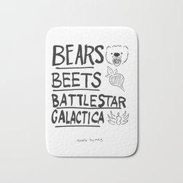 Bears, Beets, Battlestar Galactica Bath Mat