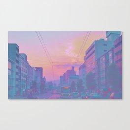 Anime sunset Canvas Print