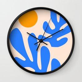 Henri Matisse - Leaves - Blue Wall Clock
