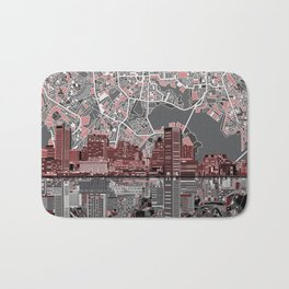 baltimore city skyline abstract Bath Mat