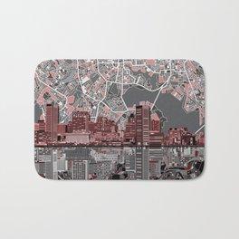 baltimore city skyline abstract Bath Mat