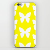 butterfly iPhone & iPod Skins featuring Butterfly by Naked N Pieces
