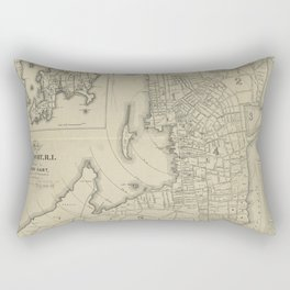 Vintage Map of Newport Rhode Island (1901) Rectangular Pillow