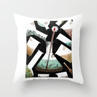 science Throw Pillows featuring Science! by Joe Lillington