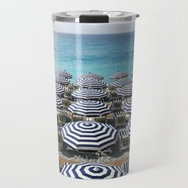 Stripes in the French Riviera Travel Mug