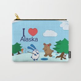 Ernest and Coraline | I love Alaska Carry-All Pouch