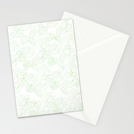 Monstera (White Glow) - Mint Stationery Cards