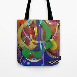 Painting abstract climbing in the mountains Tote Bag