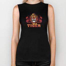 Tiger and Fire Biker Tank