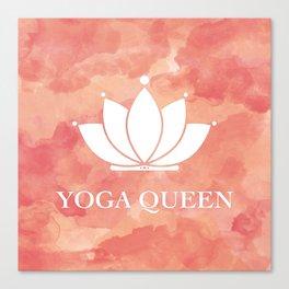 Yoga Queen  - Living Coral Watercolor Canvas Print