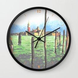 Gondola Moorings Wall Clock