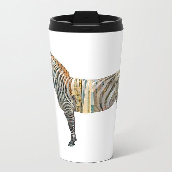 City Zebra Metal Travel Mug