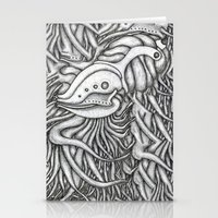 evolution Stationery Cards featuring Evolution  by OKAINA IMAGE