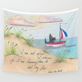 Sailing Scottie Wall Tapestry