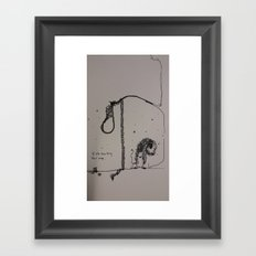 Too Big Framed Art Print