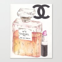 perfume Canvas Prints featuring Perfume by AshleyRose