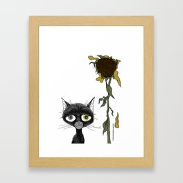 Sad is one complicated emotion of a cat! Framed Art Print