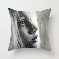 firefly Throw Pillows featuring Firefly by Olga Noes